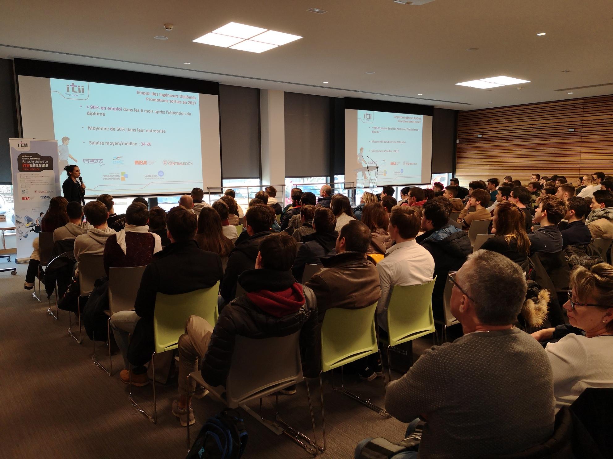 Accès à l'article Les réunions d'information sur les formations d'ingénieurs en alternance proposées par l'ITII de Lyon remportent un grand succès !